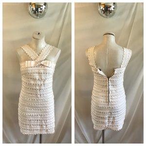 Marc Jacobs Joelle Scalloped Ric Rac Mini Dress